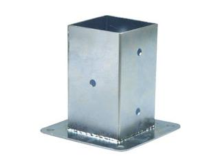 Base pilar cuadrado galvanizada timbergal - Bases para pergolas ...