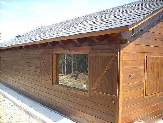 Casa de madera maciza de 6 cm espesor timbergal - Casas de madera maciza ...